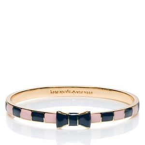 • kate spade • enamel striped bow bangle bracelet